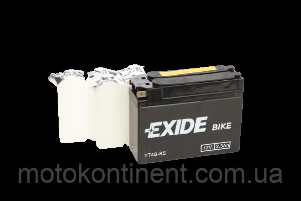 Акумулятор для мотоцикла гелевий EXIDE YT4B-BS= ET4B-BS 2,3 Ah 113x38x85, фото 2