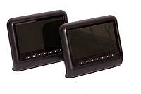 Автомобильные мультимедийные подголовники с экраном 9 дюймов, DVD и USB (Черный)