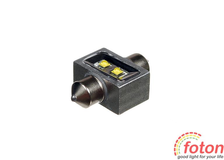 Светодиодная автолампа T10, 28mm, 2pcs Cree