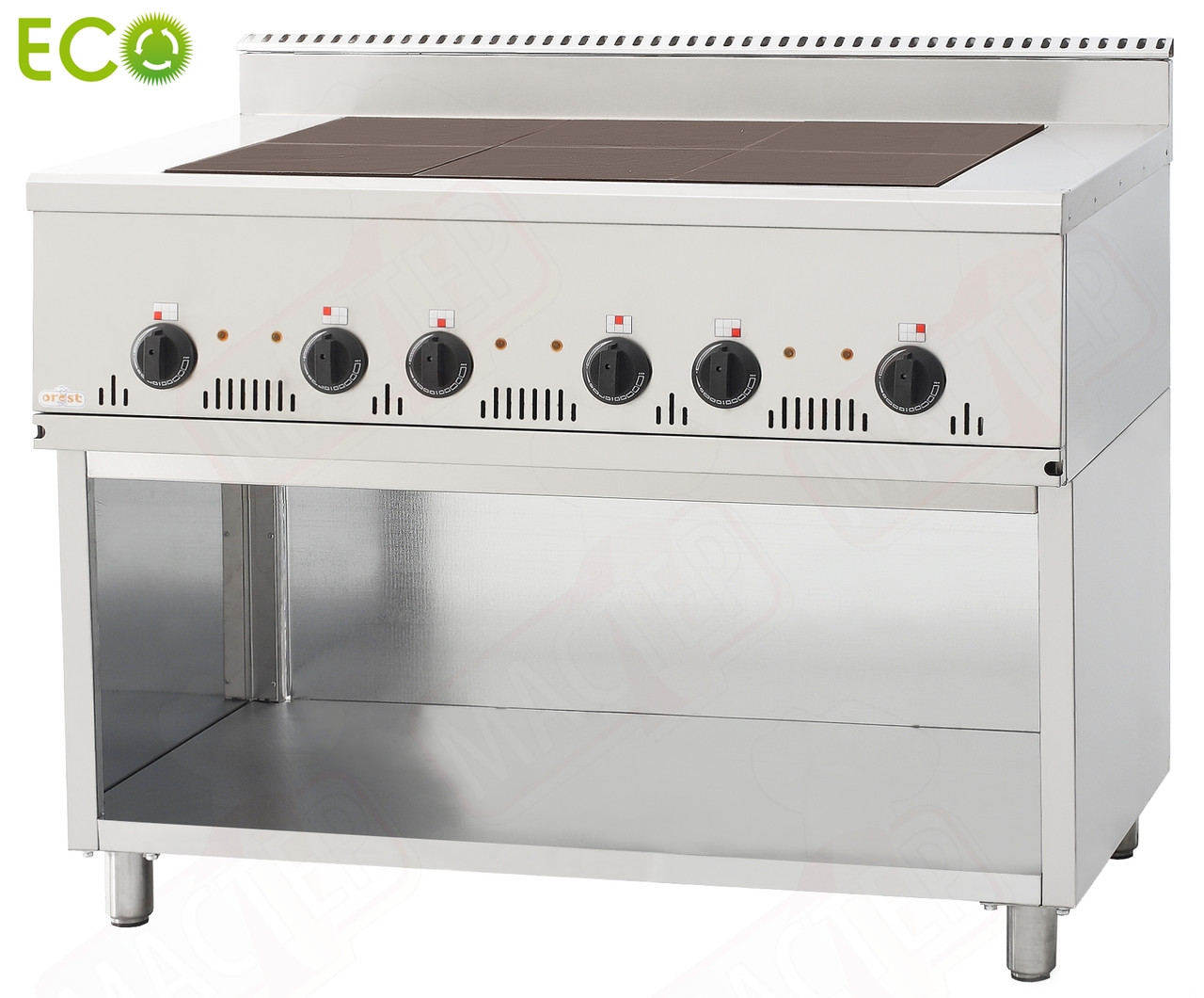 Профессиональная плита промышленная  Orest ECO ПЭ-6-Н (0,54) 700 ЕСО