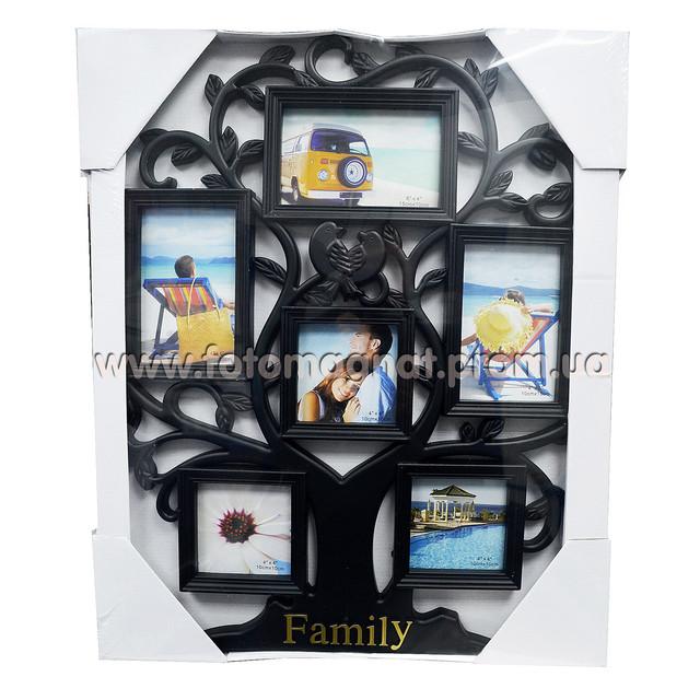 Мультирамка Родовое дерево на  6 фото оригинальный дизайн, для всей семьи