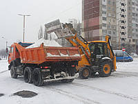 Вывоз снега самосвалами 30т.