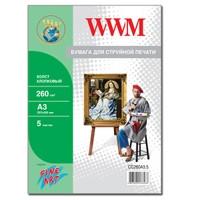 Холст WWM натуральный хлопковый , 260г/м кв , A3 , 5л (CC260A3.5)