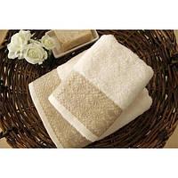 Полотенце махровое Barine - Grace ecru молочное 50*90