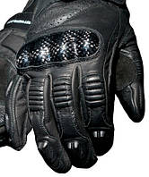 Мотоперчатки кожаные карбоновая защита силиконовые вставки  прошиты нейлоновыми нитями RST размер L