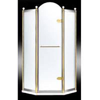 Душевая кабина Volle Grand Tenerife Combi 10-22-166 G/S профиль серебро/золото, матовое стекло 100х100 см