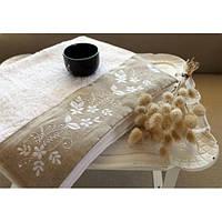 Полотенце махровое Barine - Petite beyaz белое 30*50