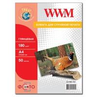 Фотобумага WWM глянцевая 180г/м кв , A4 , 50л (G180.50)
