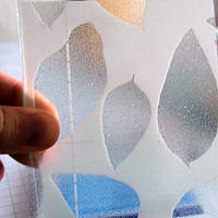 Прозрачная пленка на стекло «Листья»