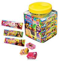 Жевательная конфета в банке Маша и Медведь МИКС 40 шт