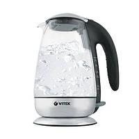 Электрочайник Vitek VT-1160 TR, стекло, блокировка крышки, защита от перегрева, подсветка, 1,7 л
