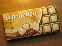 """Шоколад молочный Schogetten """"Trilogia"""" , 100г"""