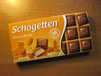 "Молочный шоколад Schogetten ""Almond brittle"", 100г"