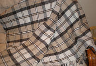 Плед Палермо белый беж коричневый 140*200 Влади, фото 1