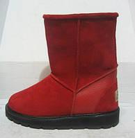 Угги женские Ugg красные натуральная замша
