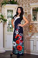 Женское летнее платье в пол+большой размер