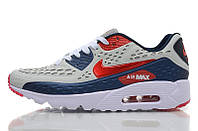 Кроссовки мужские Nike Air Max 90 Ultra BR Blue Burgundy (найк аир макс 90, оригинал)