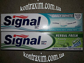 SIGNAL Зубна паста 100мл HERBAL FRESH, DAILY WHITE