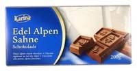 Немецкий шоколад  Karina «Edel Alpen Sahne» 200 г