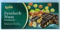 Немецкий шоколад Karina «Feinherb Nuss» 200 г
