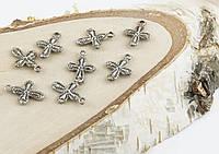 Подвеска Крестики серебро 20мм (10 штук)(товар при заказе от 500грн)