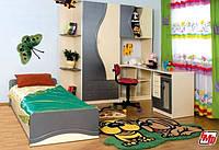 Детская комната Эколь МДФ БМФ металлик - крем (без кровати)