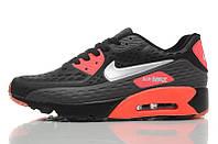 Кроссовки мужские  Nike Air Max 90 Ultra BR Black Red (найк аир макс 90)