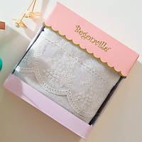 Махровое полотенце Begonville - Eva 2 ekru (молочный) 50*90