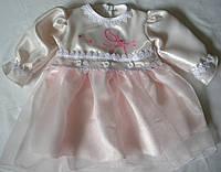 Нарядное платье + штанишки р. 68, 74, 80 см.