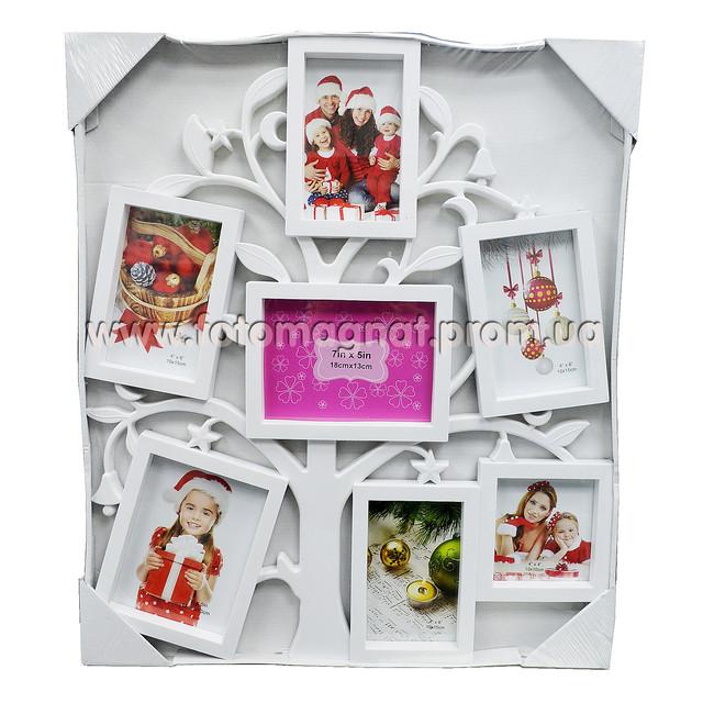 Мультирамка Родове дерево на 7 фото для всієї родини.