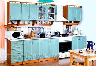 Кухня Карина бирюза 2.6 м БМФ