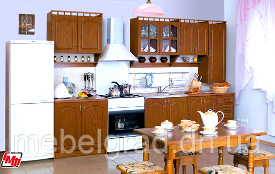 Кухня Каріна з пеналом МДФ 2,6 м БМФ