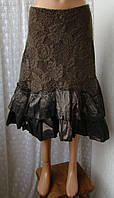 Юбка женская нарядная кружево оборочки бренд Rinascimento р.46 5885а, фото 1