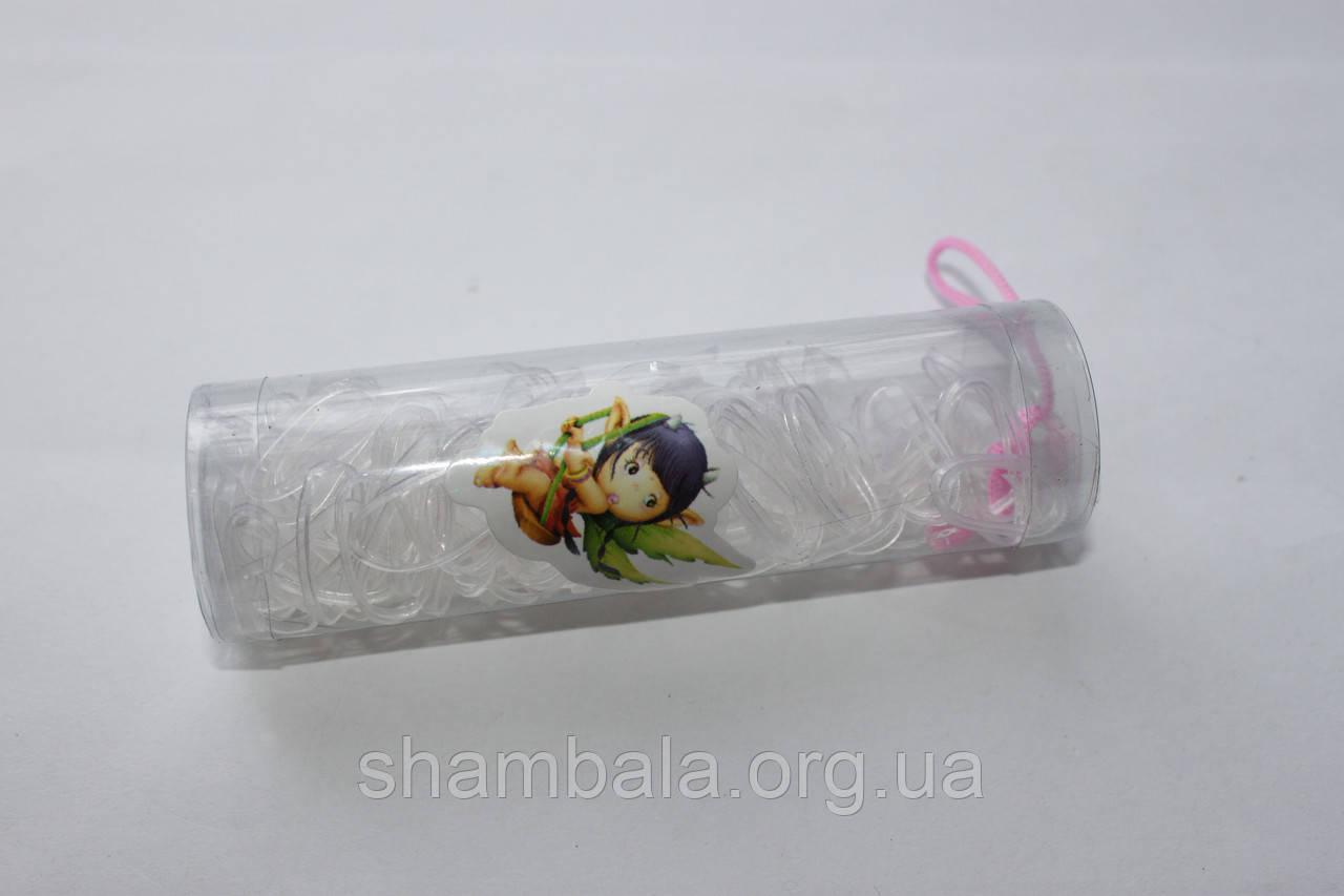 Резинки для косичек 100 шт. прозрачные