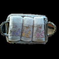 Набор махровых полотенец Begonville - Lauren 5 ecru (молочный)  30*50-3 шт.