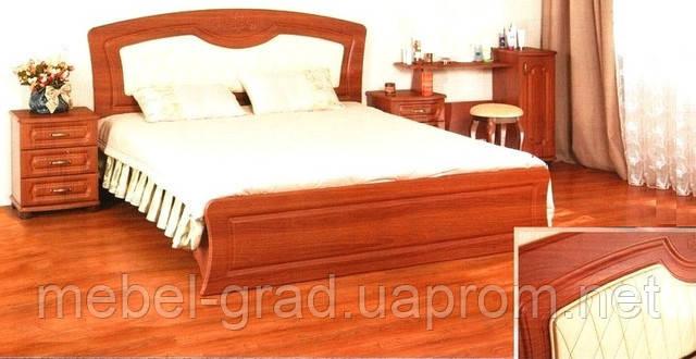 Кровать двухспальная с декоративной накладкой КТ-659 Дженифер БМФ 160х200
