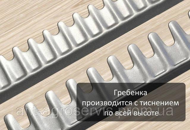 Гребенка производится с тиснением по всей высоте