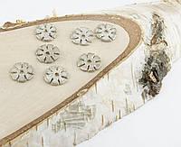 Подвеска Цветки серебро 14мм (10 штук)