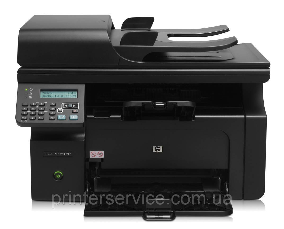 БУ черно белое лазерное МФУ HP LaserJet M1212nf mfp формата А4