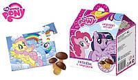 """""""MY LITTLE PONY"""" Печенье """"Грибочки""""(шоколадные фигуры с отделкой) в коробочке с сюрпризом 8/4, 42г."""