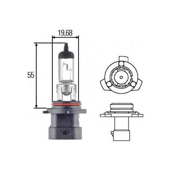 Автомобильная лампа HB4A Hella 8GH 005 636-201