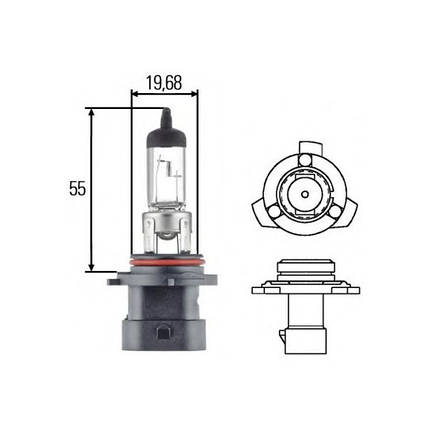 Автомобильная лампа HB4A Hella 8GH 005 636-201, фото 2