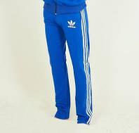 Спортивные штаны Adidas с полосками цвет електрик