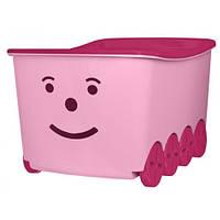 Ящик для игрушек на колесах Tega Play 52L BQ-005 (light pink-pink)