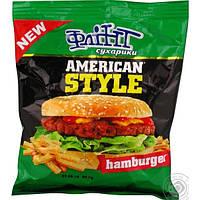 Сухарики ТМ Флинт со вкусом Гамбургер  70 гр