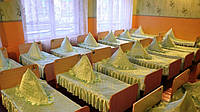 Накидка треугольник на подушку для детского сада, атласная без рюш (размер 50х50 см)