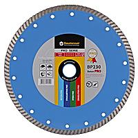Круг алмазный Turbo Baumesser Beton Pro 230 мм отрезной диск по бетону, кирпичу и тротуарной плитке