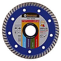 Круг алмазный Turbo Baumesser Stahlbeton Pro 125 мм отрезной диск по среднеармированному бетону и кирпичу