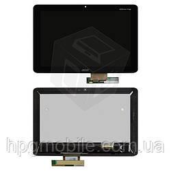 Дисплейный модуль (дисплей + сенсор) для Acer Iconia Tab A210, A211, черный, оригинал