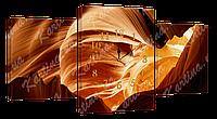 Модульная картина с часами 6 пещера